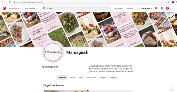 Pinterestpagina Mamagisch