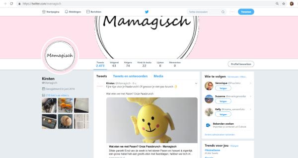 Twitterpagina Mamagisch