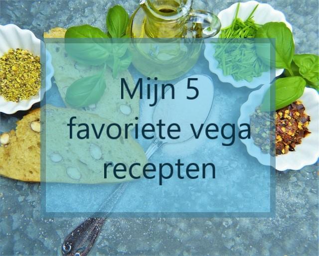 Mijn 5 favoriete vega recepten